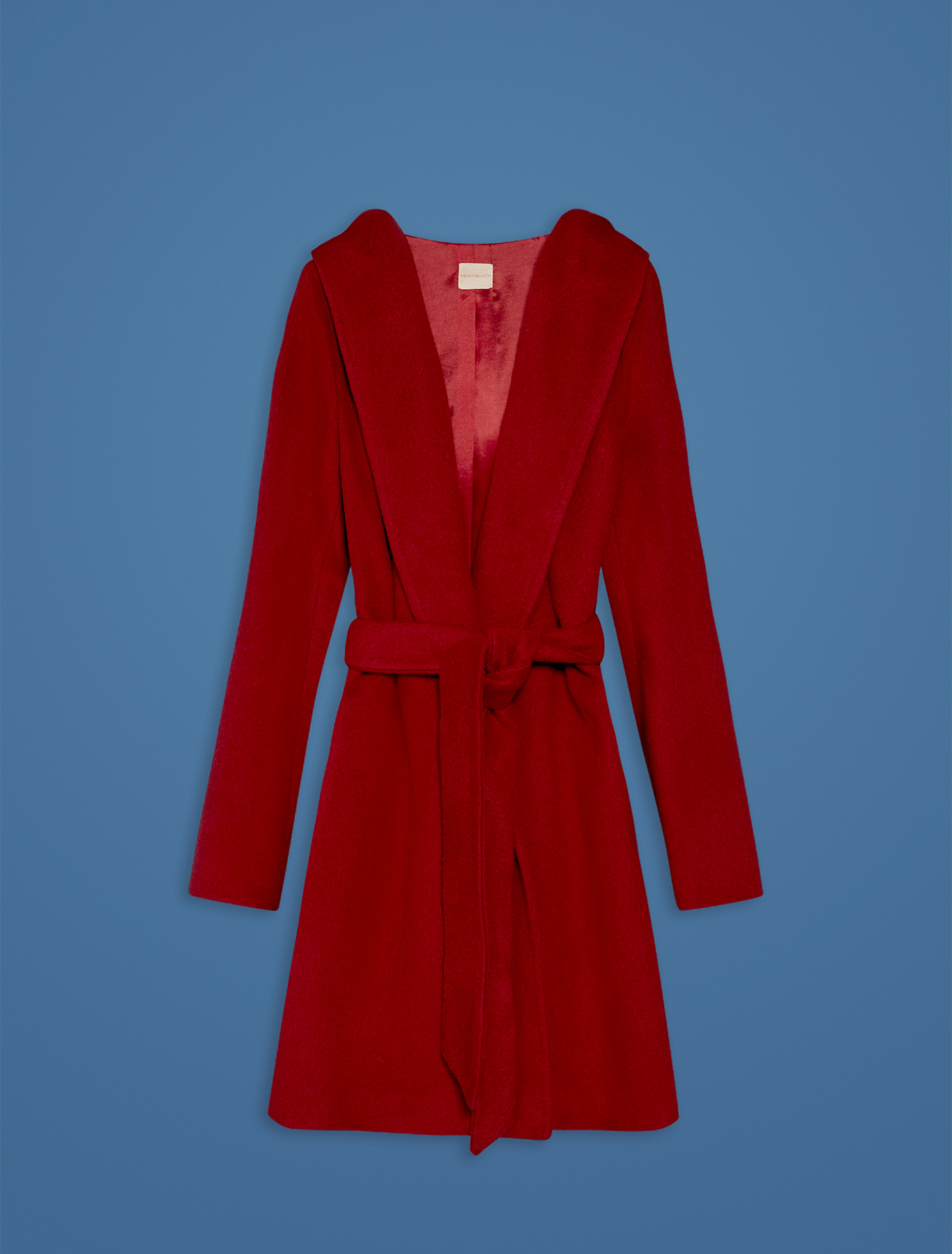 Short beaver cloth coat - red - pennyblack