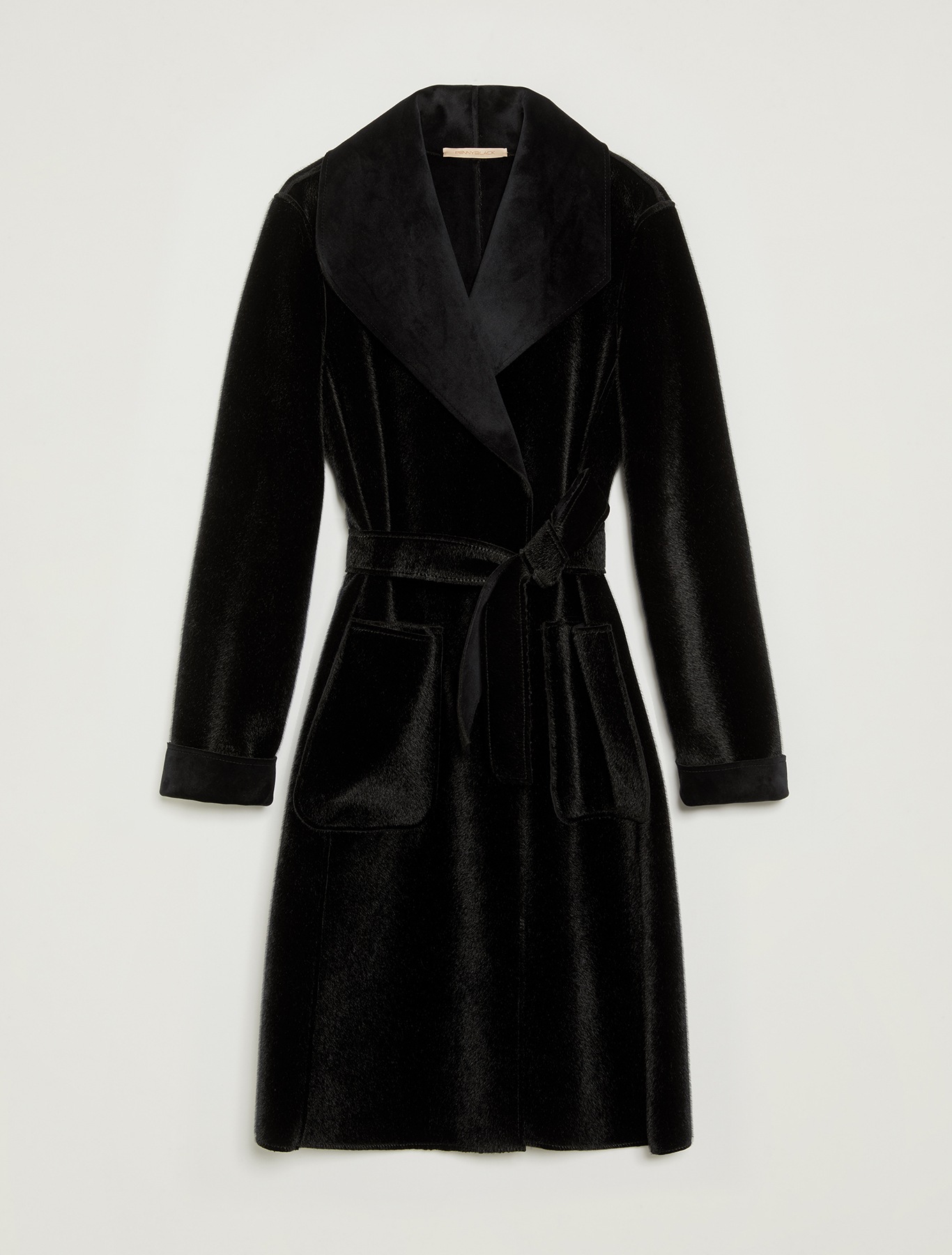 Reversible plush coat - black - pennyblack