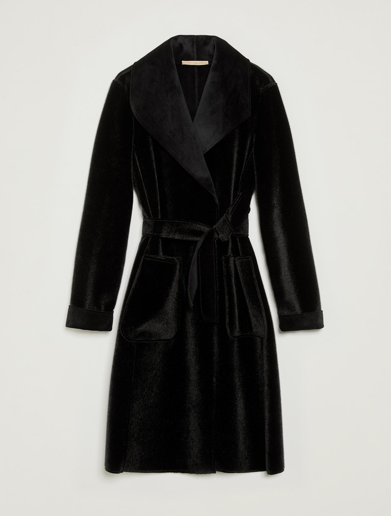 Reversible plush coat - black - pennyblack