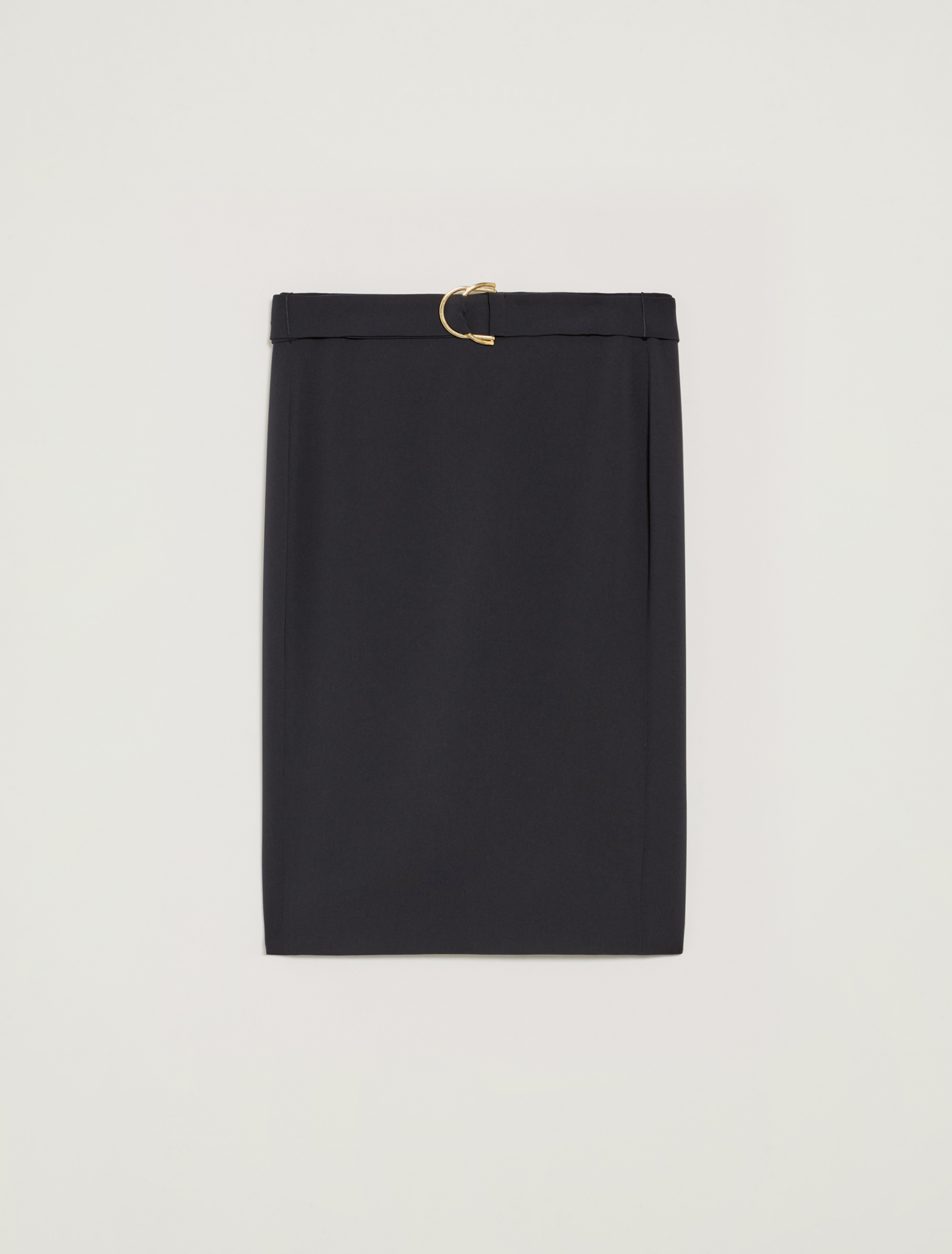 Belted pencil skirt - navy blue - pennyblack