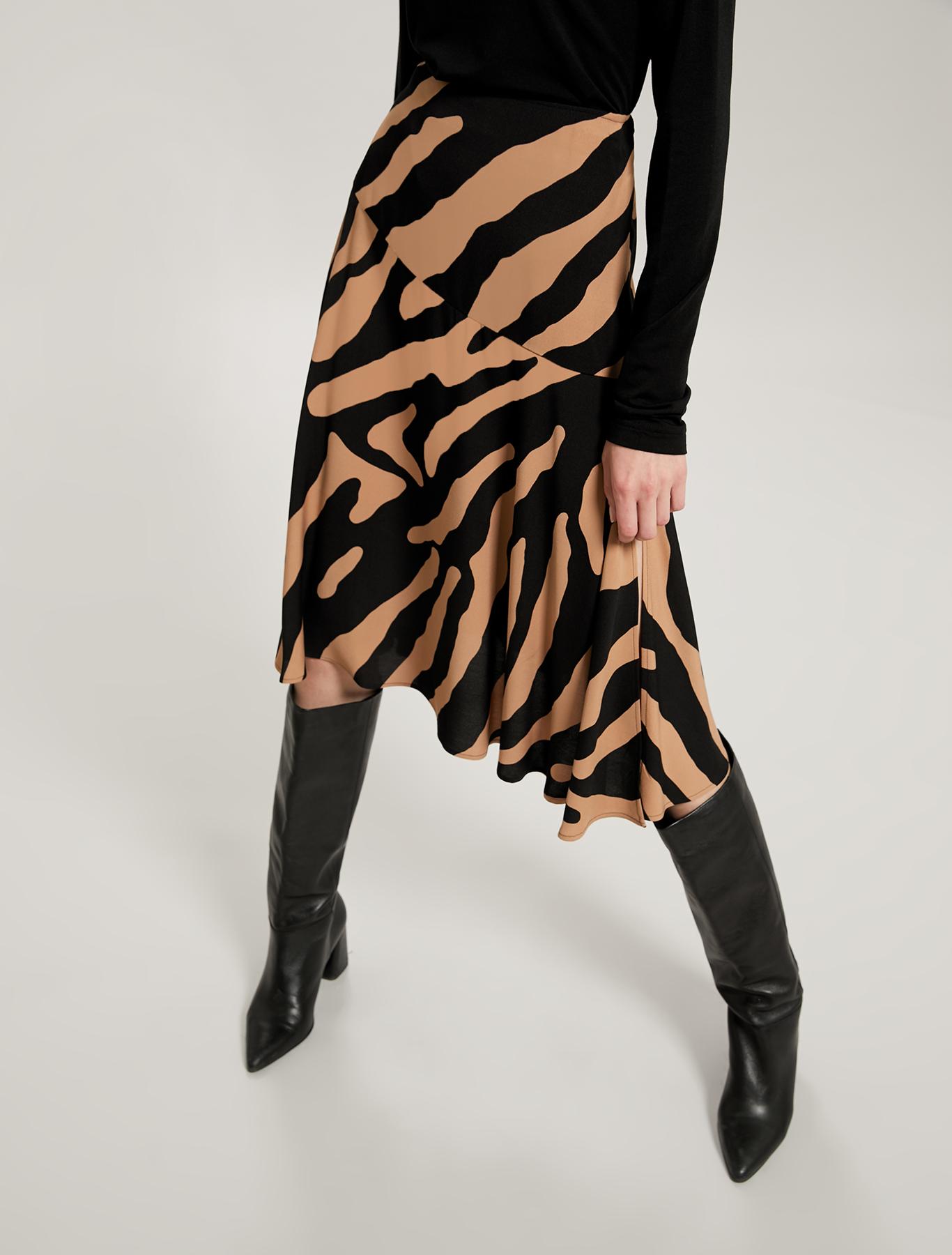 Sablé midi skirt - camel pattern - pennyblack