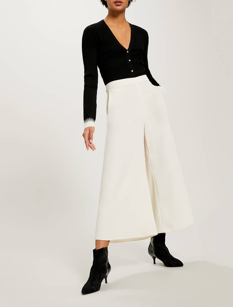 Gonna pantalone in envers satin - bianco avorio - pennyblack