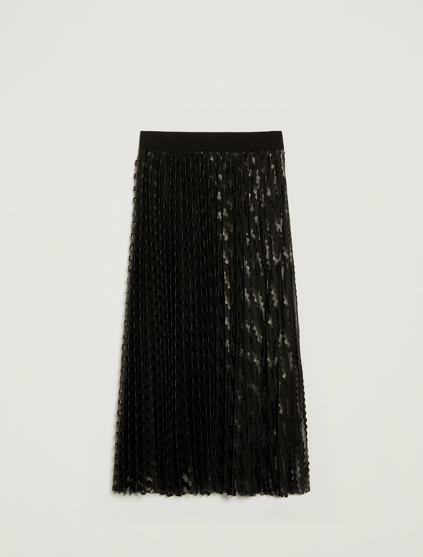 Tulle skirt with appliqués - black - pennyblack