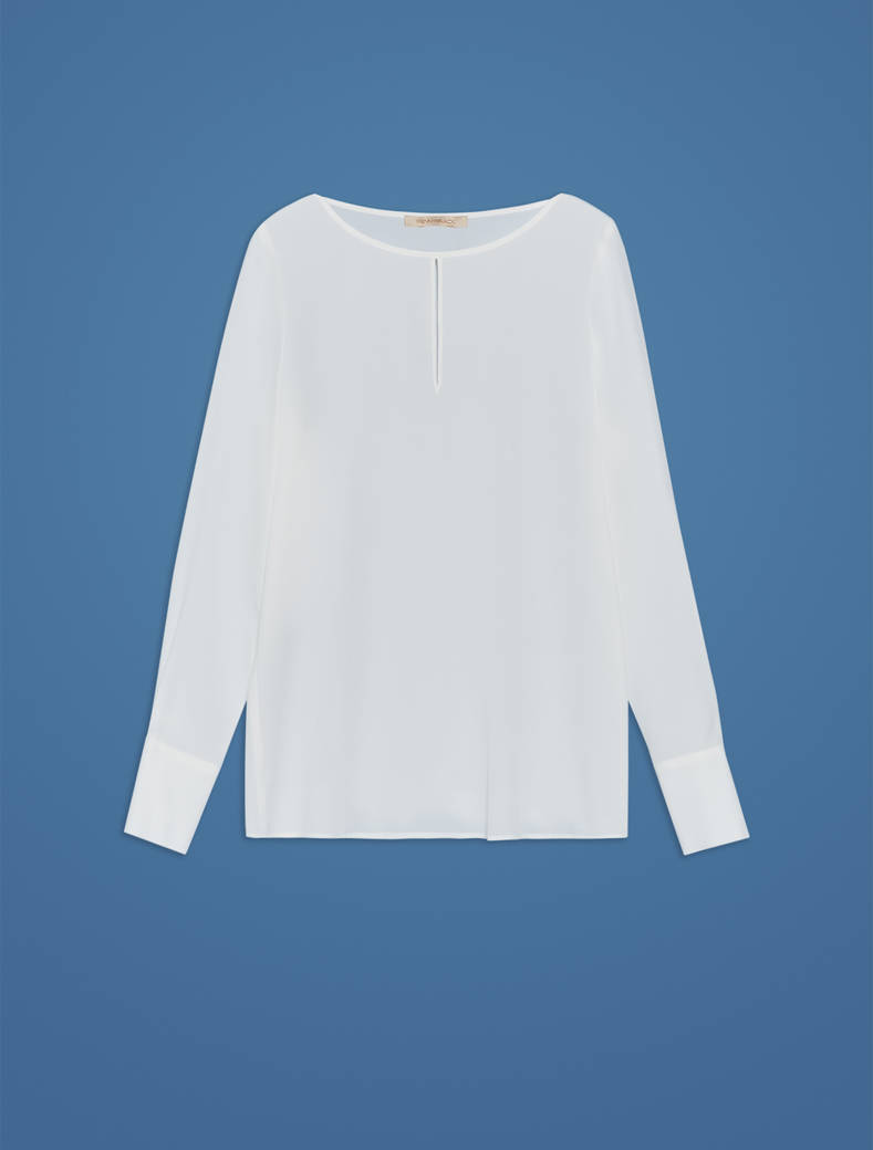 Crepe de chine blouse - ivory - pennyblack