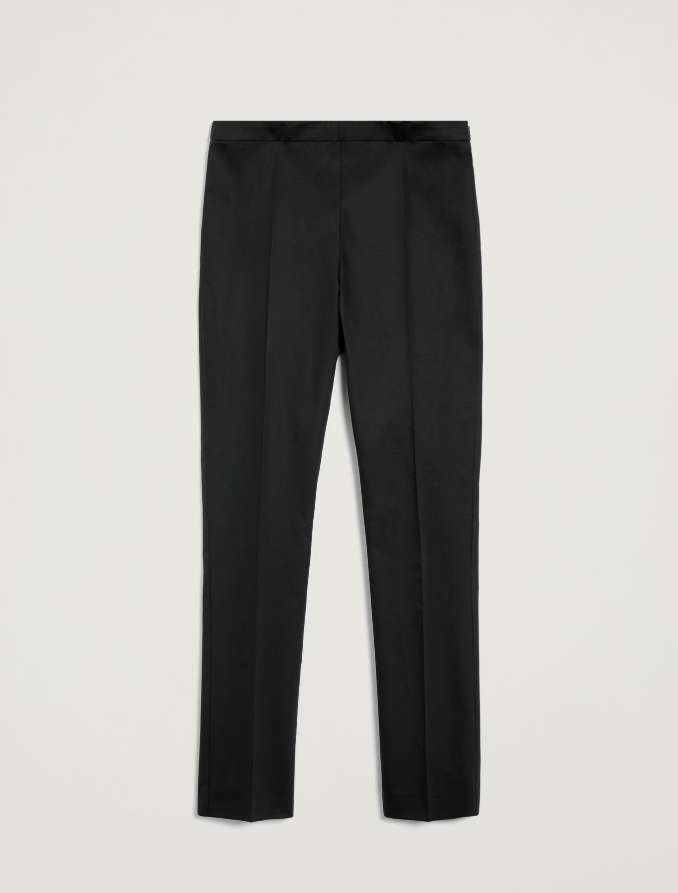 Pantaloni skinny in raso di cotone - nero - pennyblack