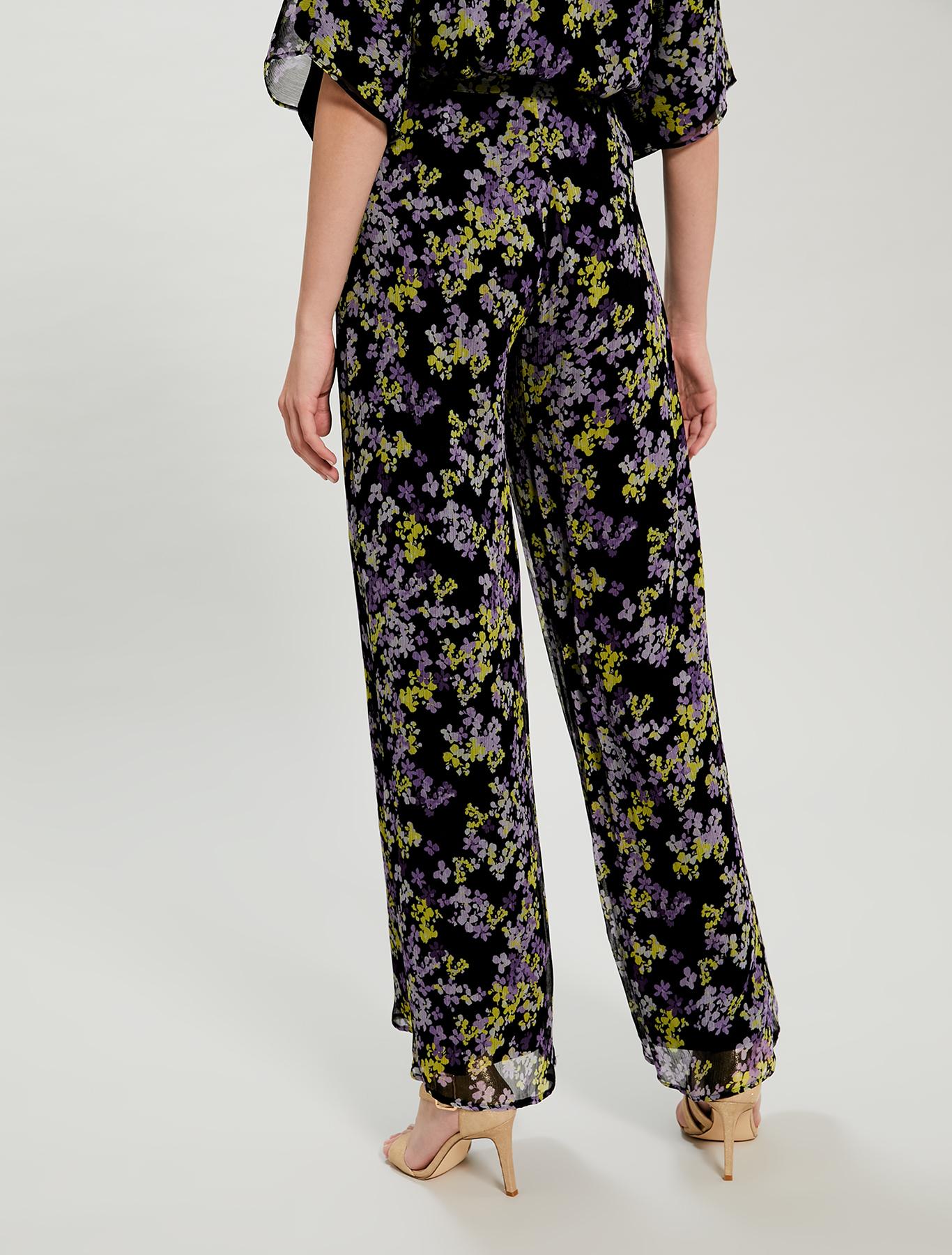 Floral palazzo pants - black pattern - pennyblack