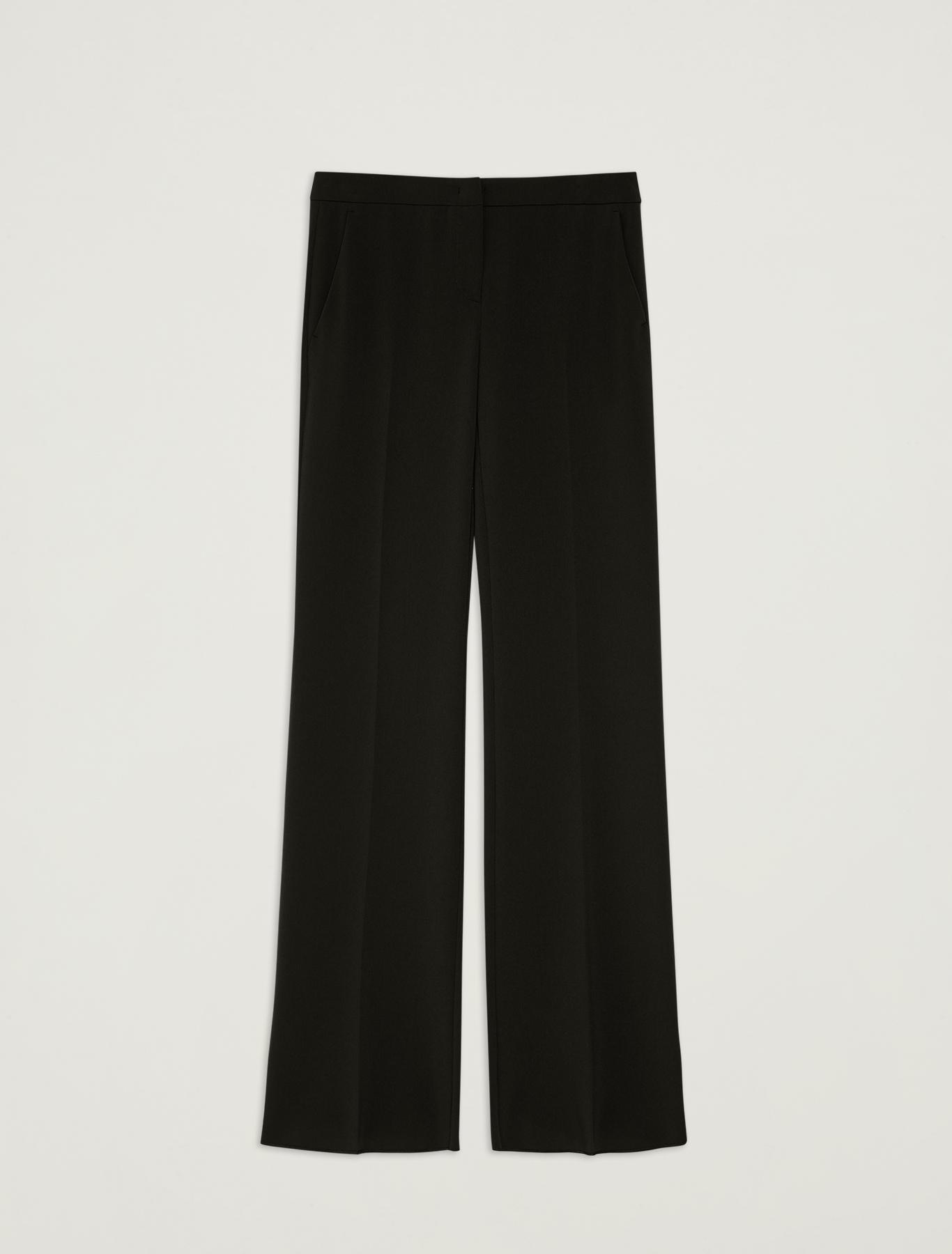 Floaty wide-leg trousers - black - pennyblack