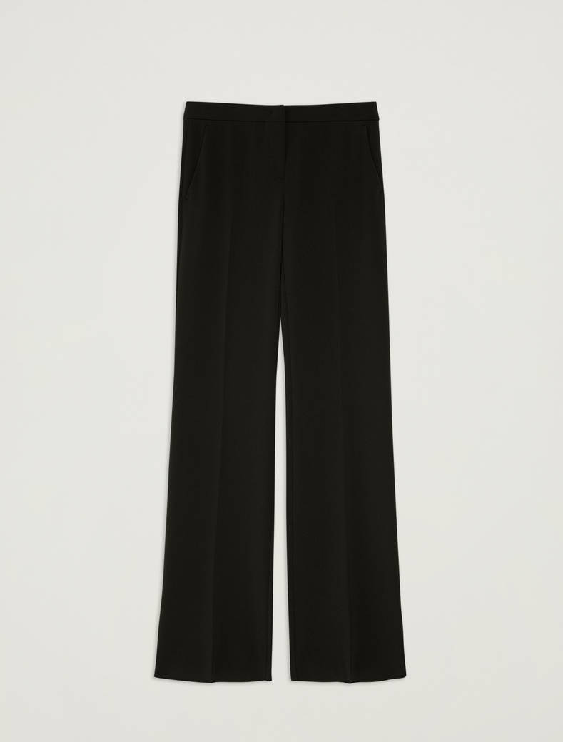 Floaty wide-leg trousers - black - pennyblack