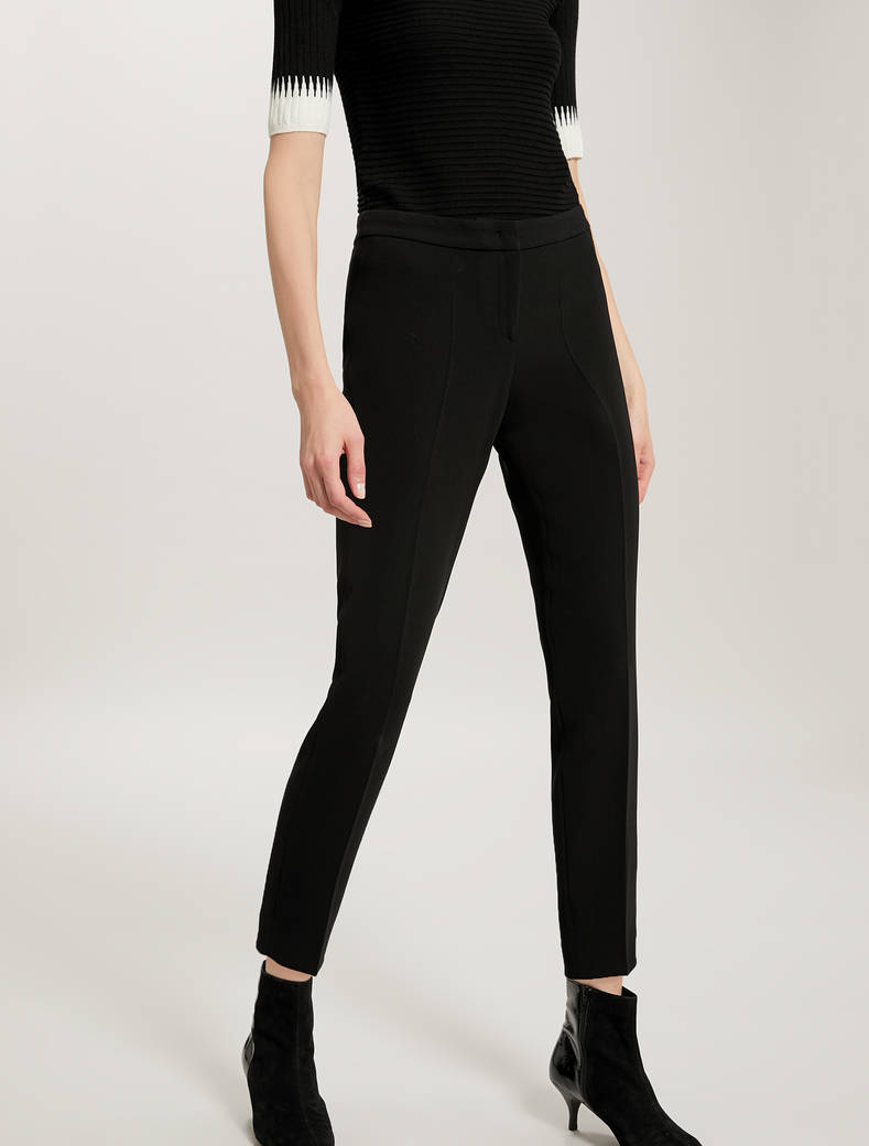 Slim fit fluid trousers - black - pennyblack