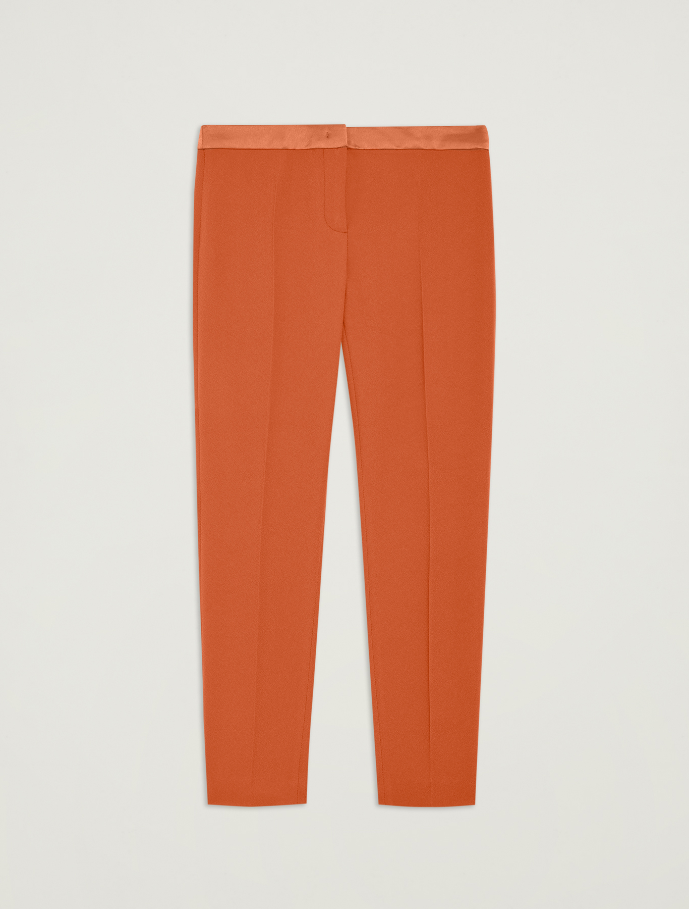 Slim fit envers satin trousers - hazelnut - pennyblack