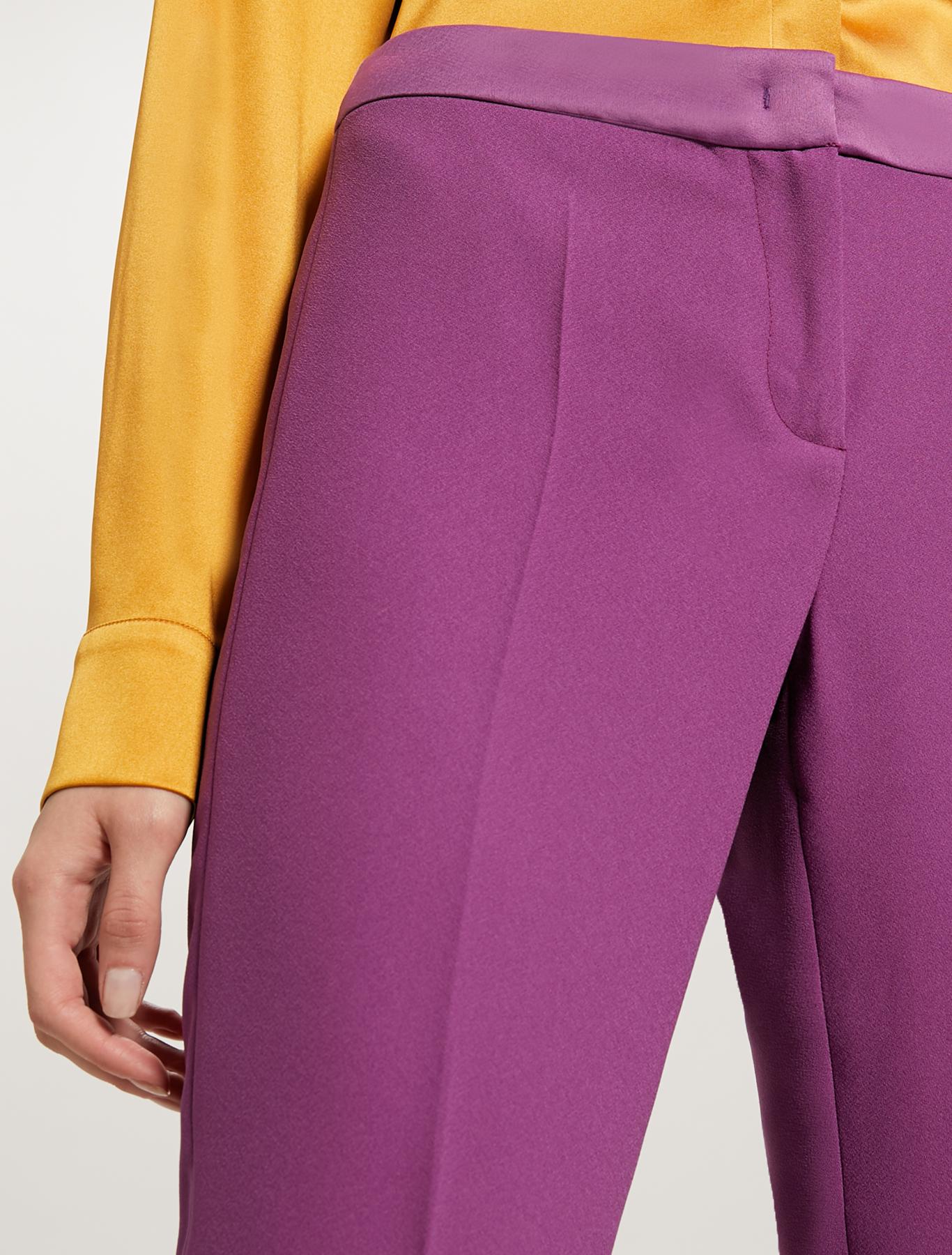 Slim fit envers satin trousers - purple - pennyblack