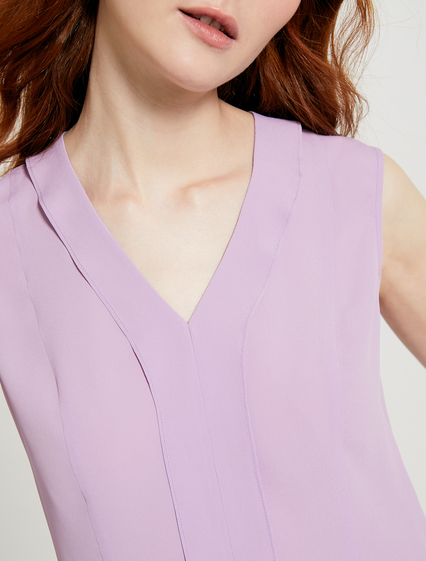 Slim-fit flounce top - lilac - pennyblack