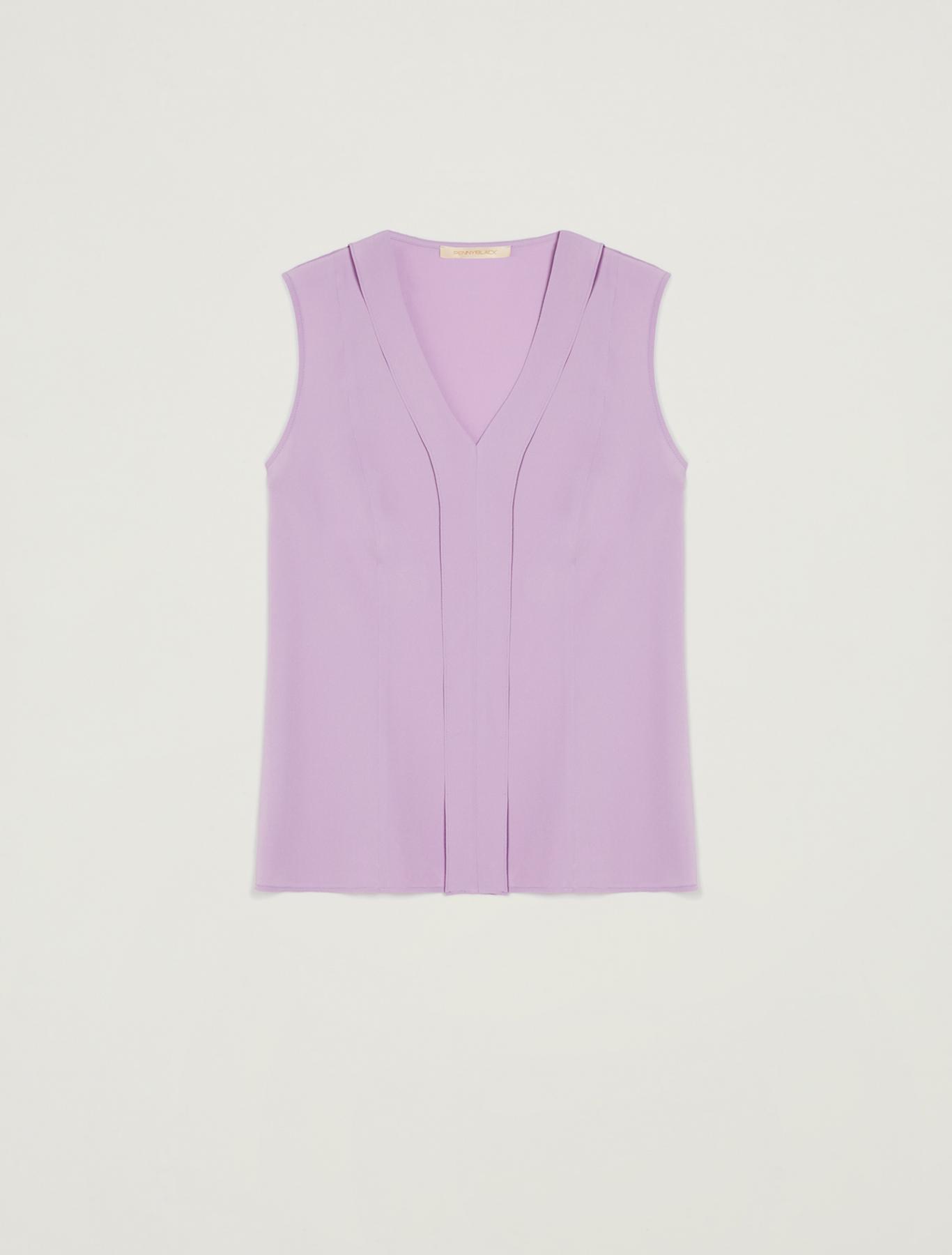 Slim-fit flounce top - lilac - pennyblack