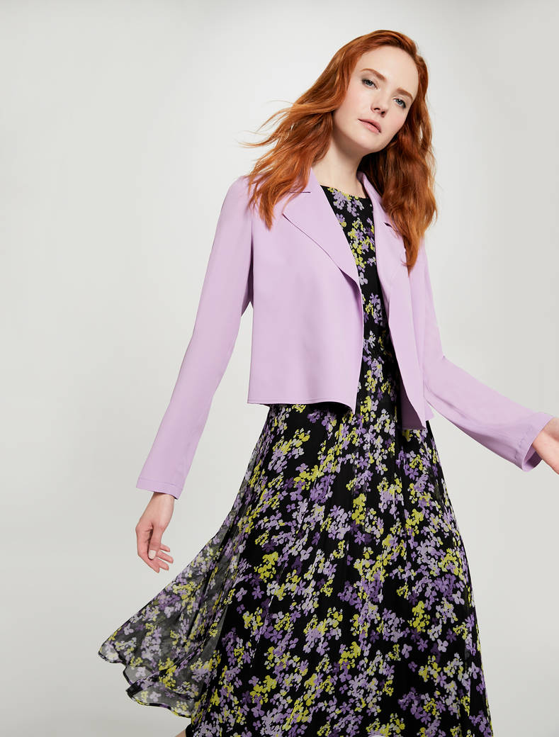 Lightweight deconstructed jacket - lilac - pennyblack