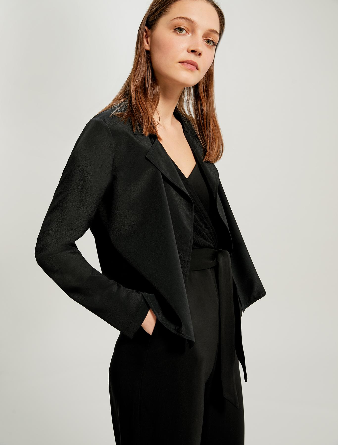 Lightweight deconstructed jacket - black - pennyblack