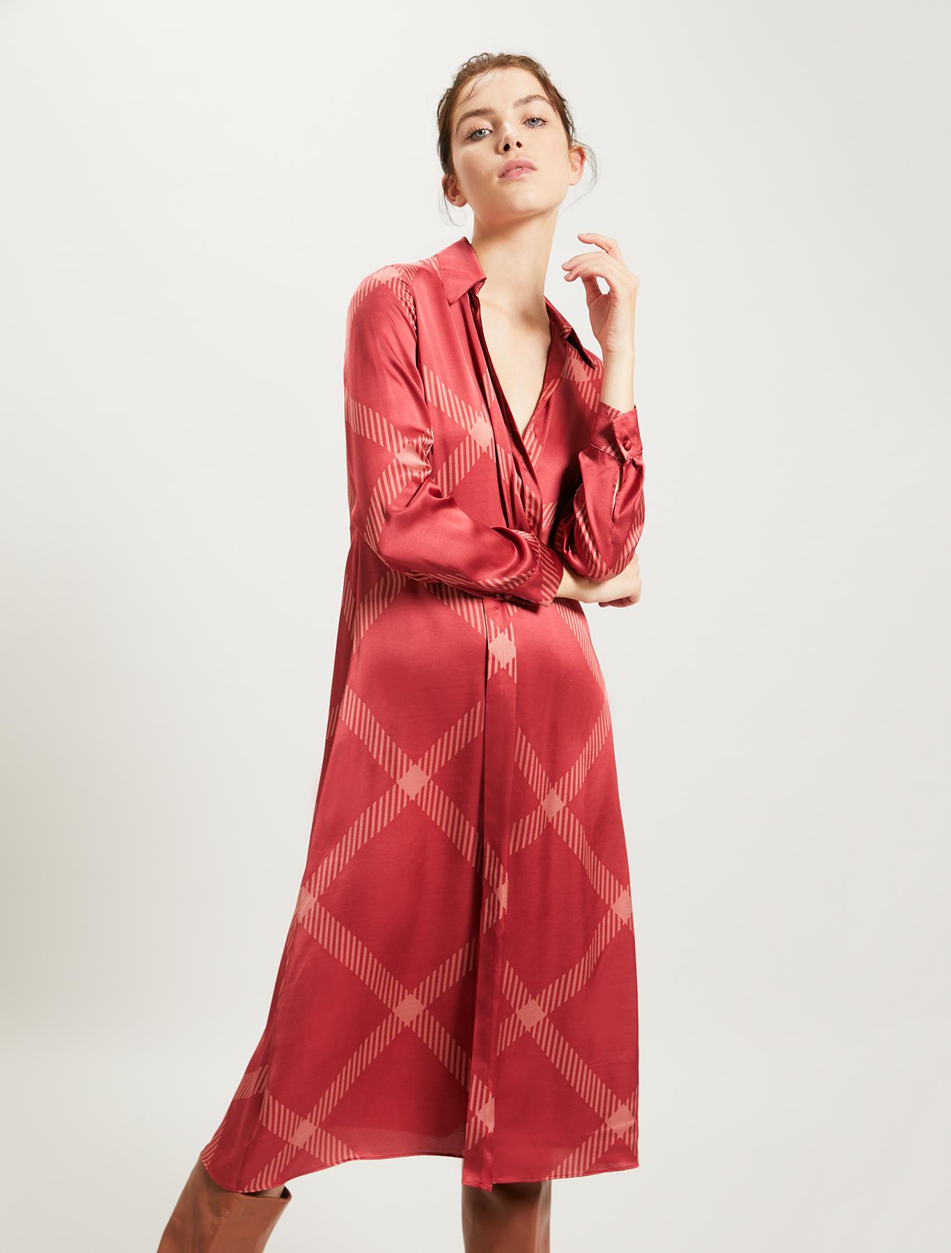 Maxi check dress - red pattern - pennyblack