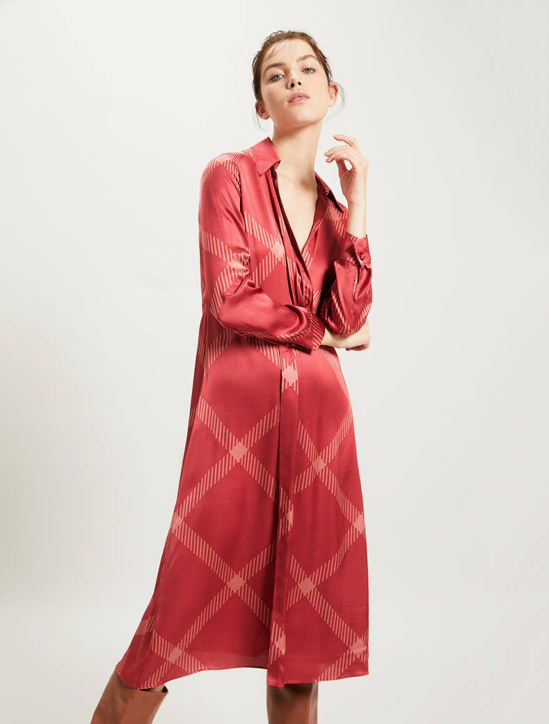 Maxi check dress - red pattern - pennyblack