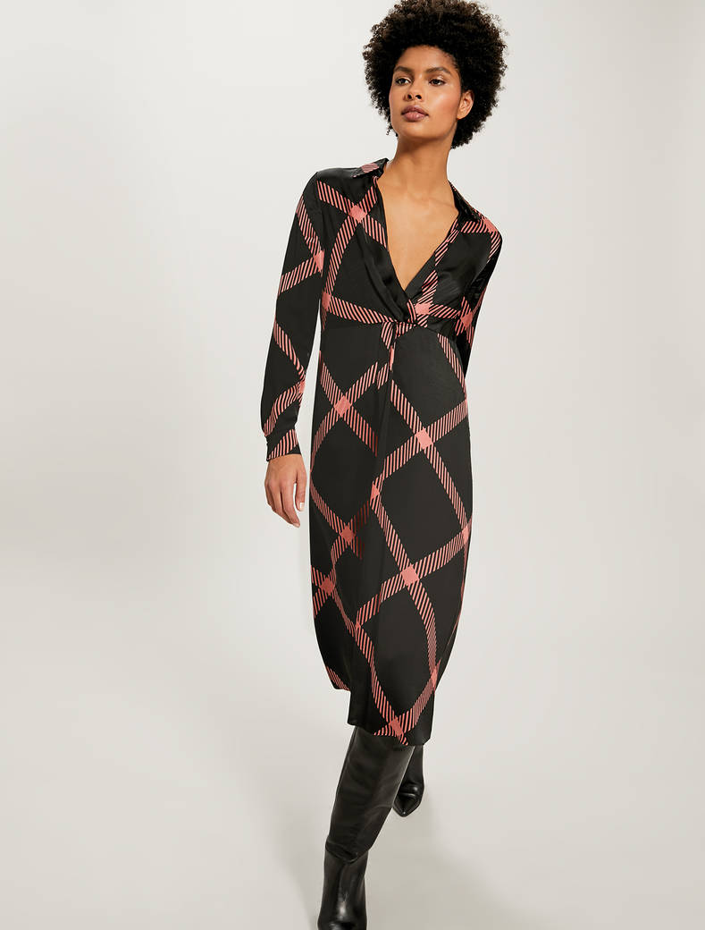 Maxi check dress - black pattern - pennyblack