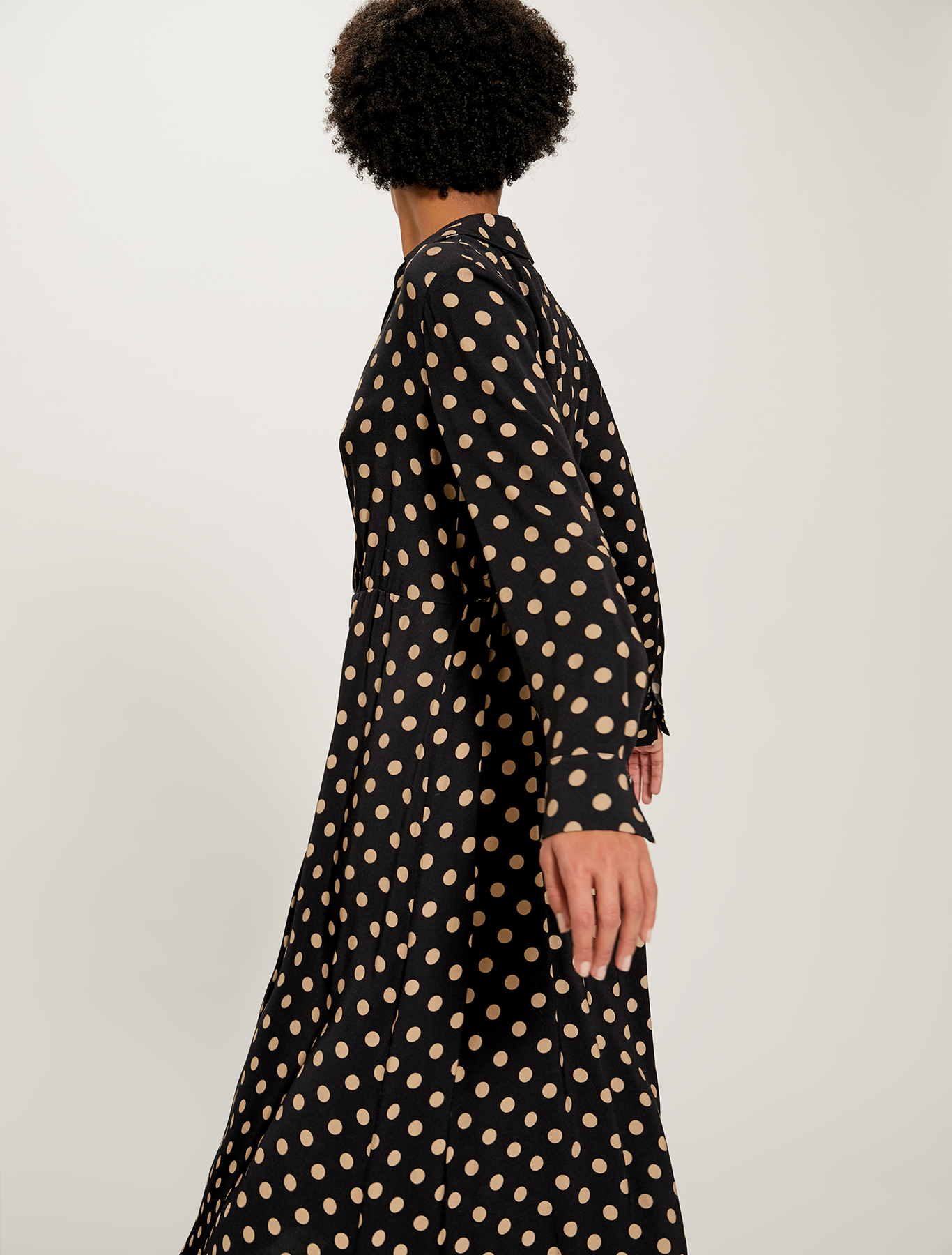 Sablé midi dress - beige pattern - pennyblack