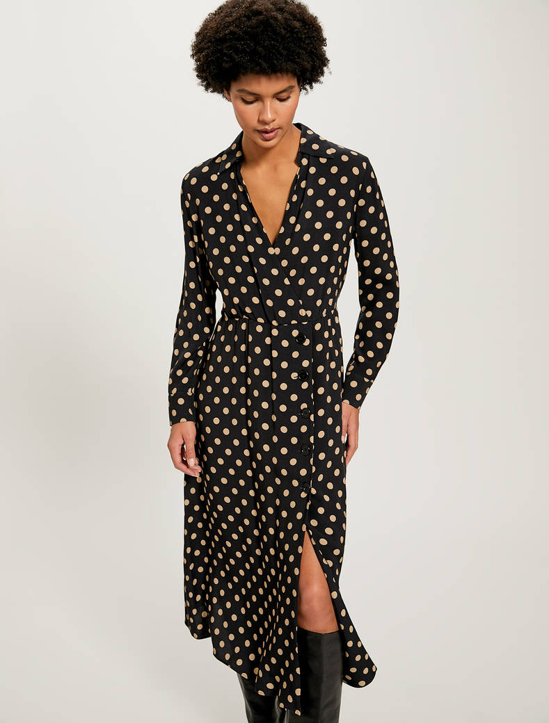 Sablé midi dress - beige pattern - pennyblack