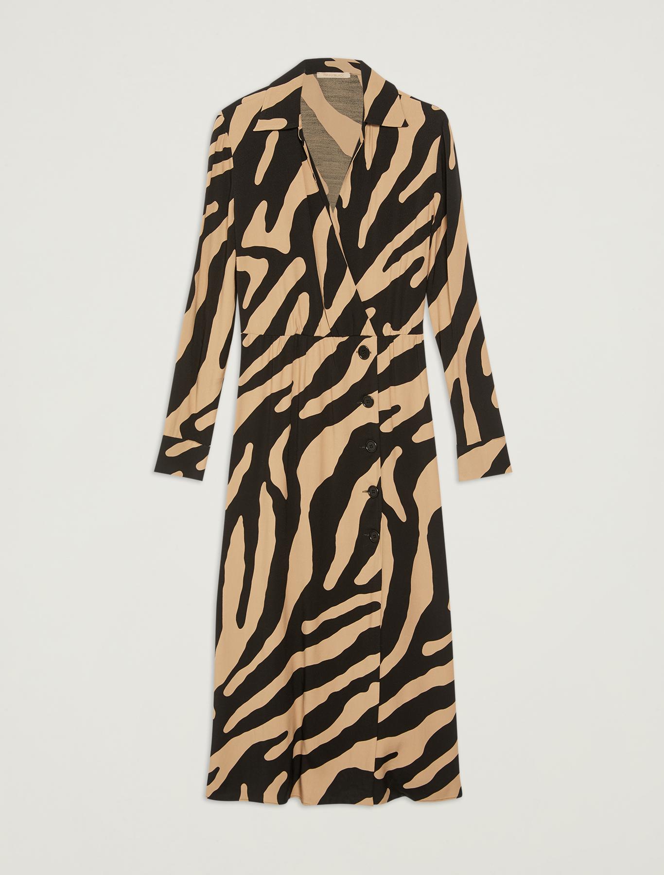 Sablé midi dress - camel pattern - pennyblack