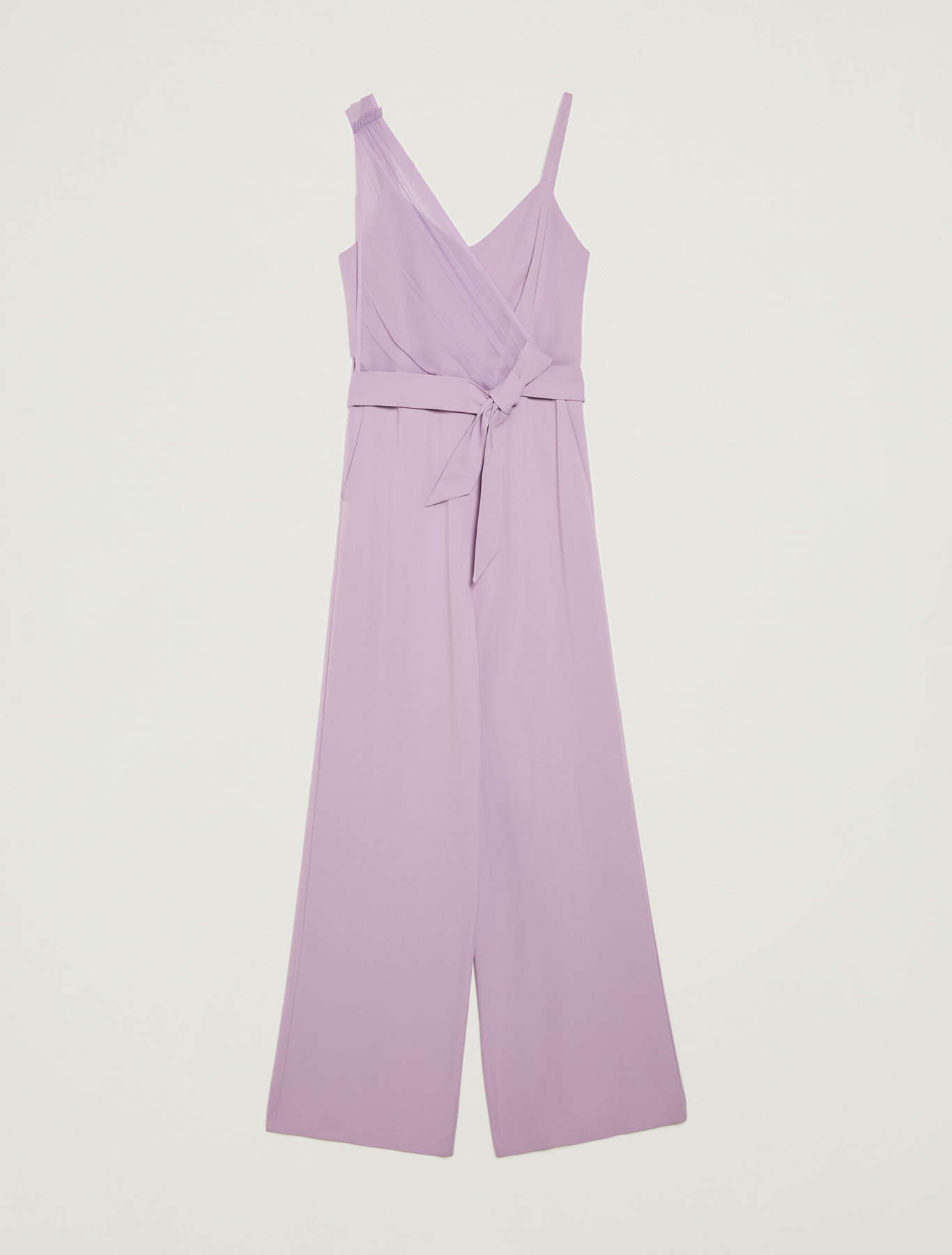 Jumpsuit with asymmetric motif - lilac - pennyblack