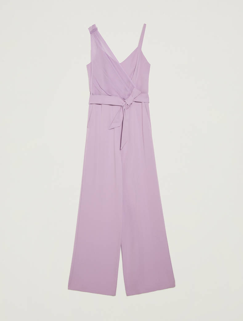 Jumpsuit with asymmetric motif - lilac - pennyblack