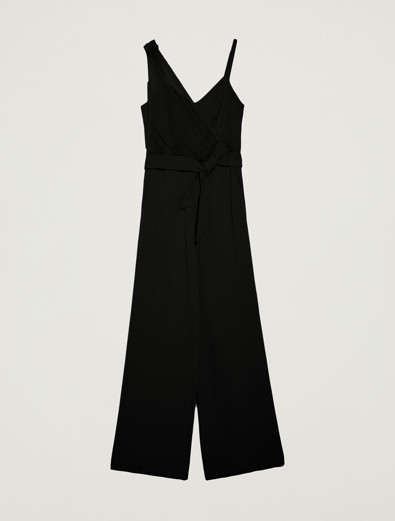 Jumpsuit with asymmetric motif - black - pennyblack