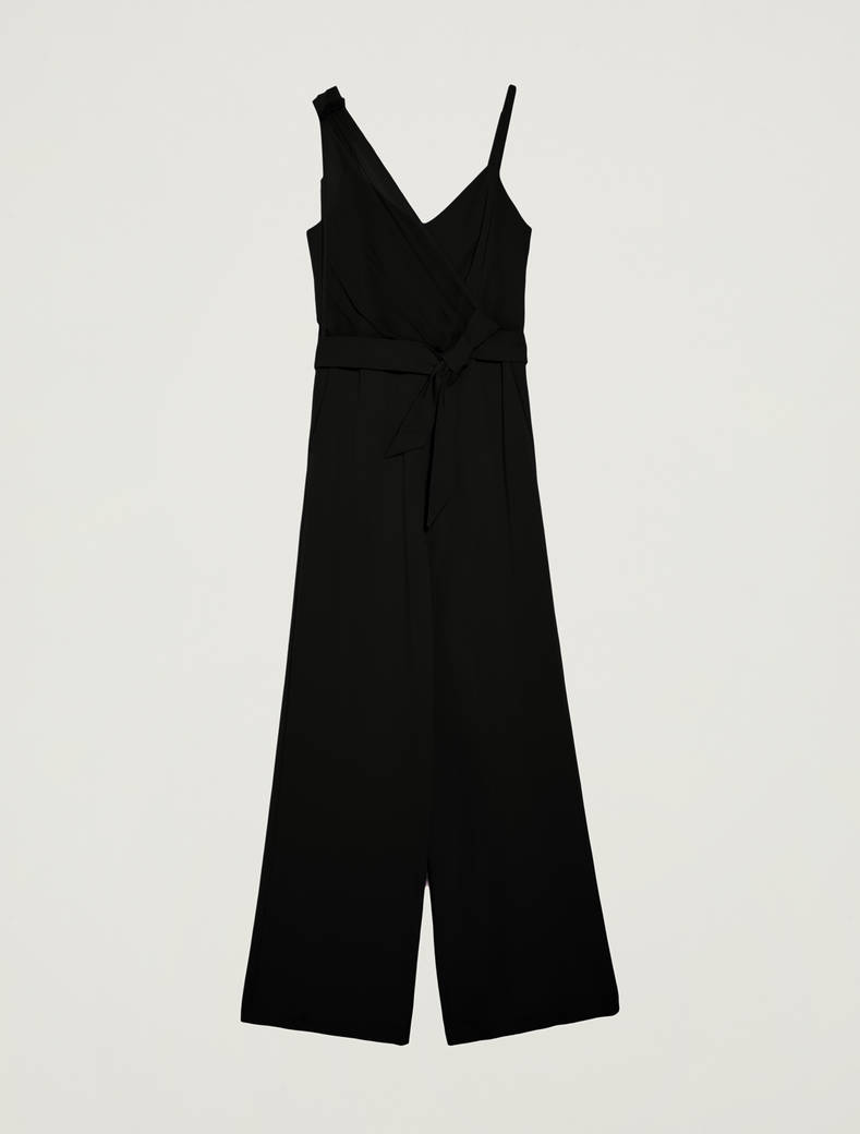Jumpsuit with asymmetric motif - black - pennyblack