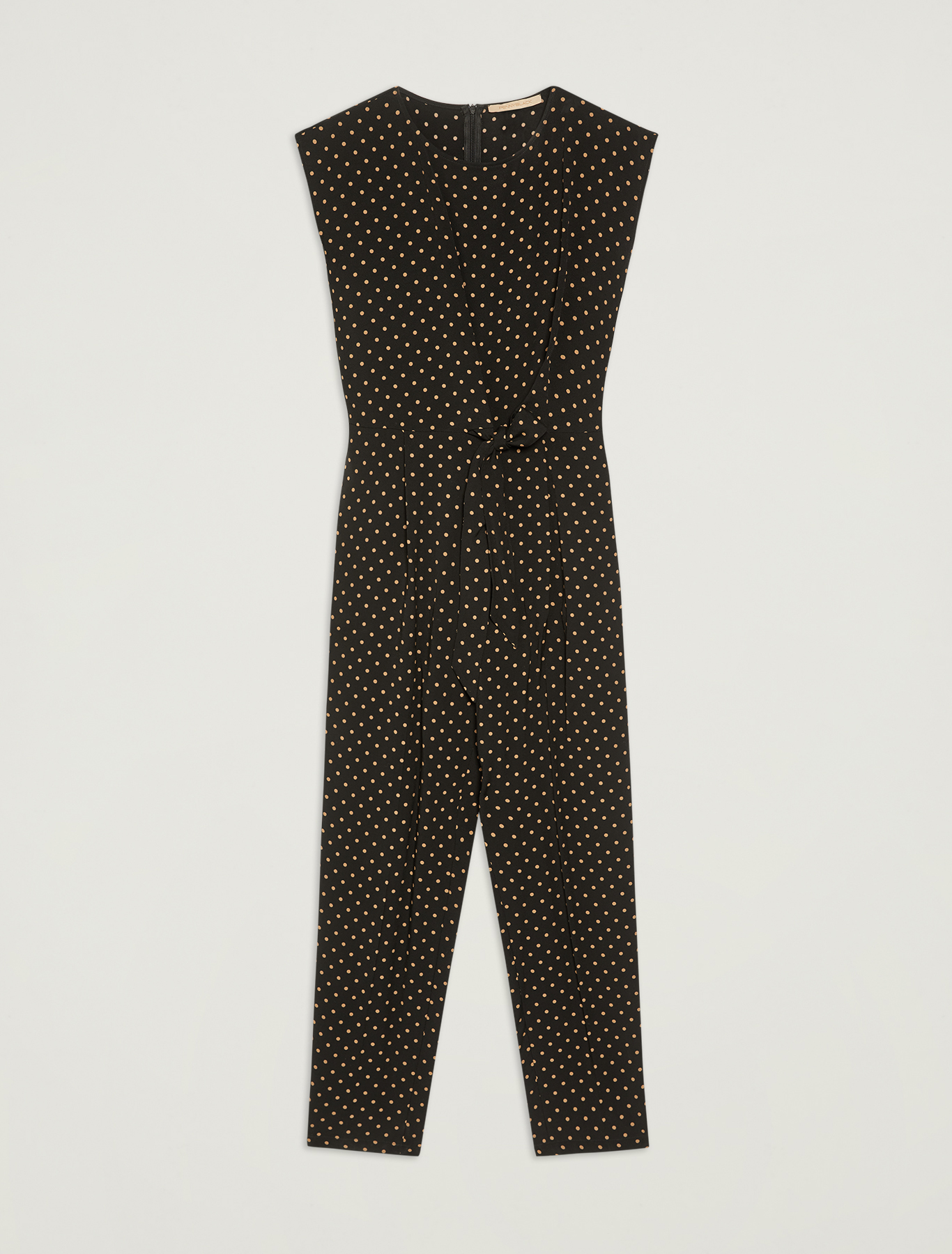 Polka dot sablé jumpsuit - black pattern - pennyblack