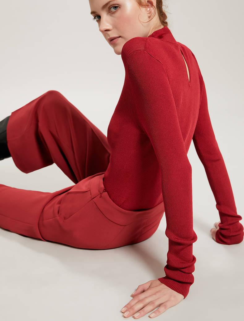 Lupetto in maglia a costine - rosso - pennyblack