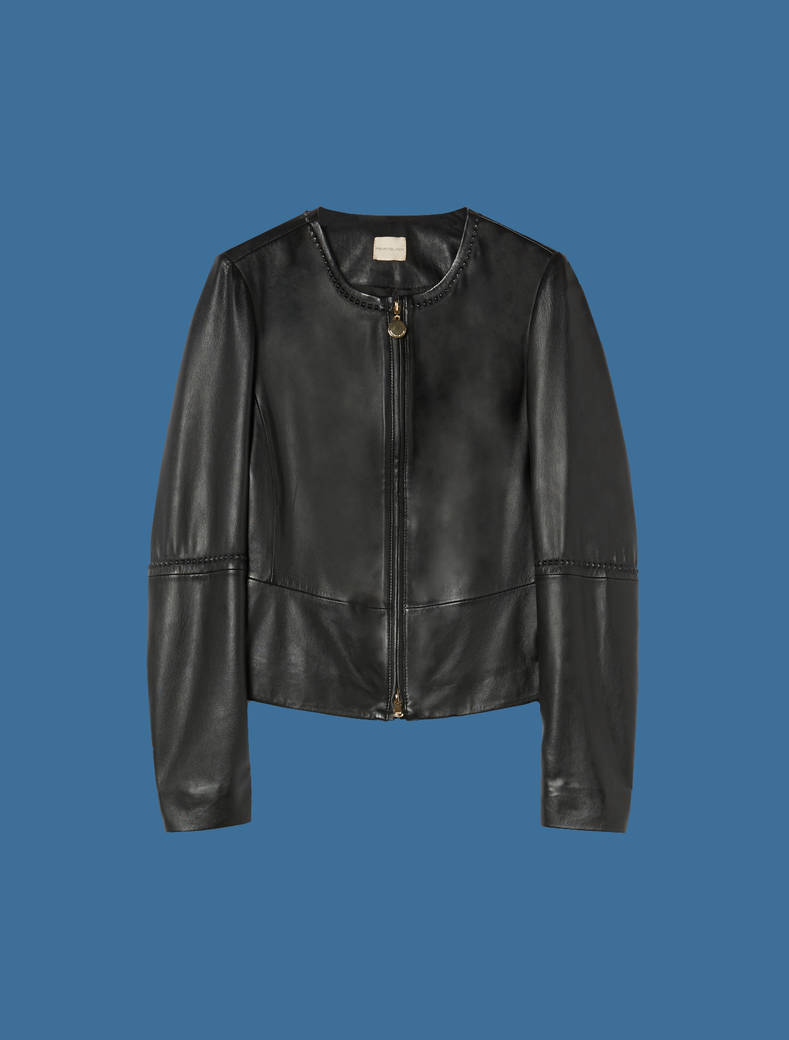 Slim suede jacket - black - pennyblack