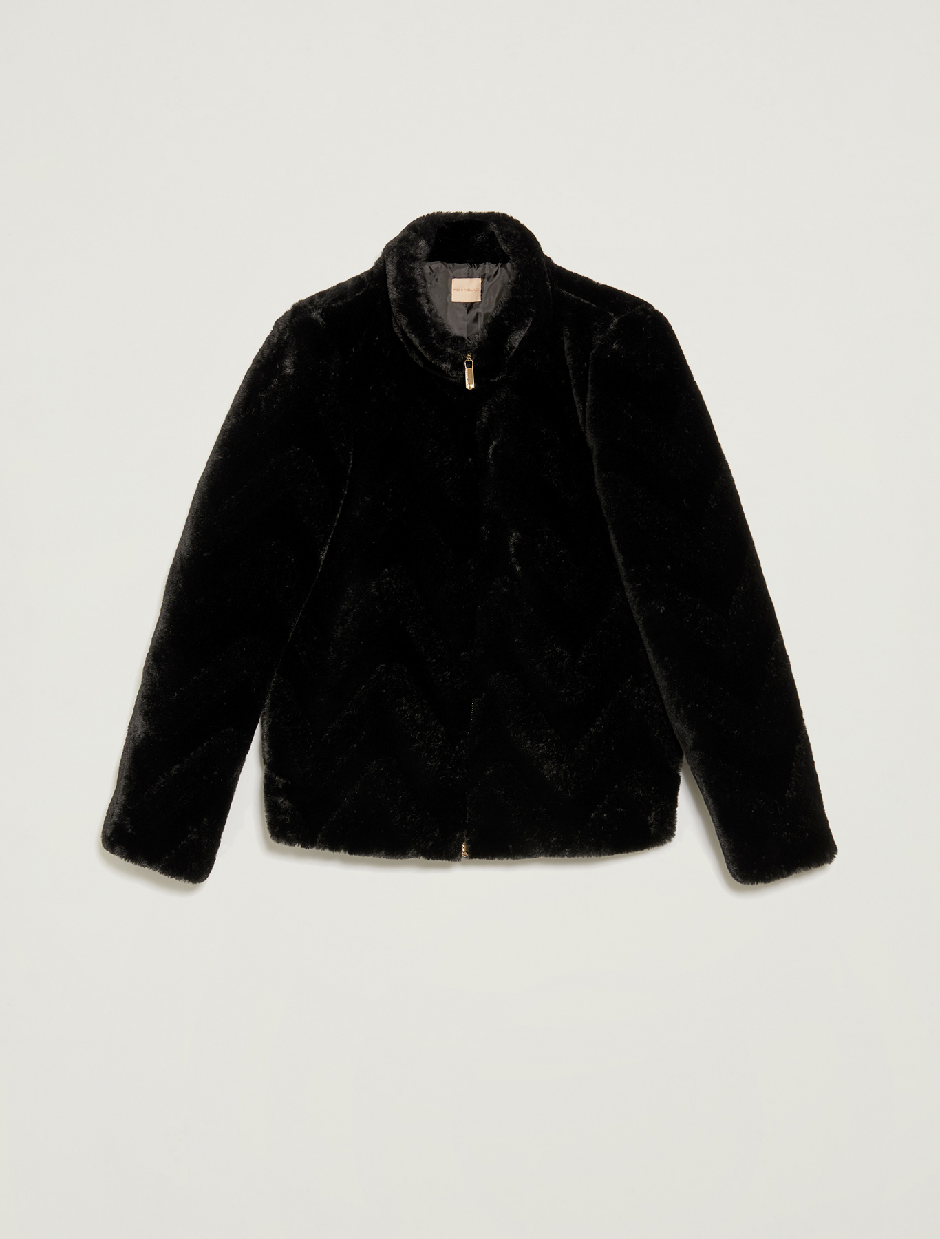 Zipped plush jacket - black - pennyblack