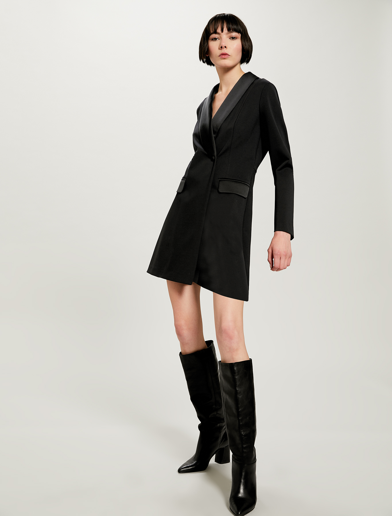 Mini-suit double-breasted blazer - black - pennyblack