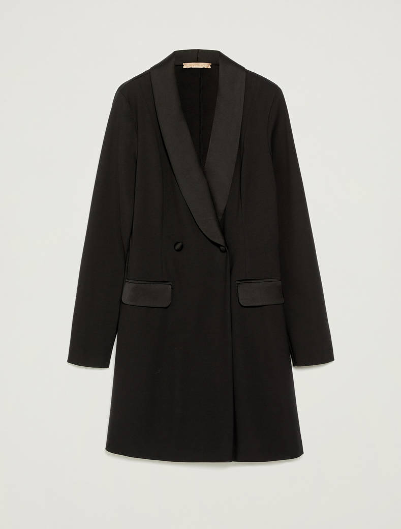 Mini-suit double-breasted blazer - black - pennyblack