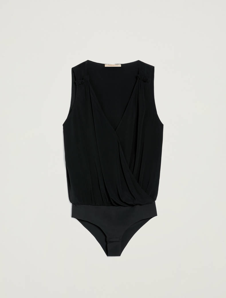 Crossover bodysuit - black - pennyblack