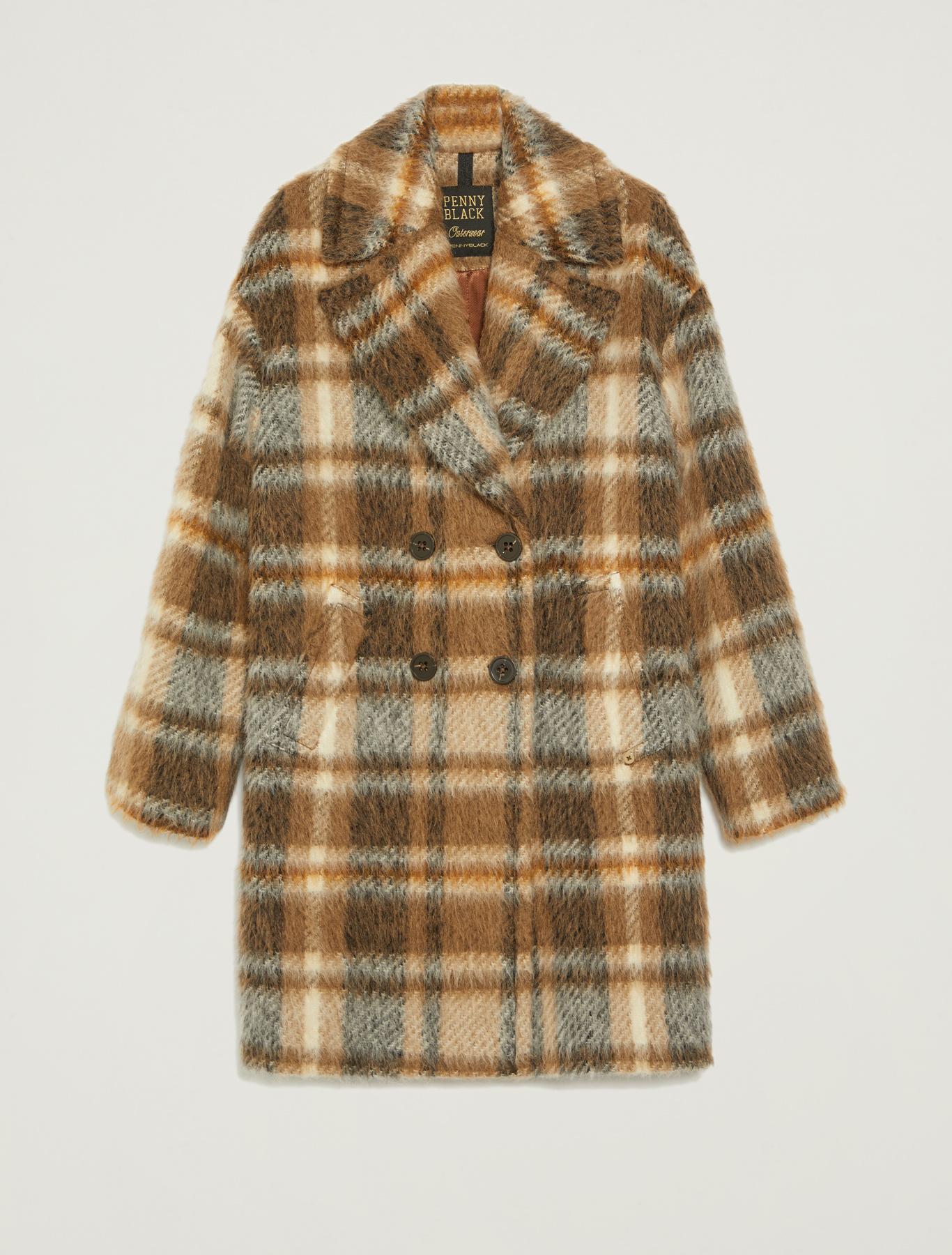 Checked coat - camel pattern - pennyblack