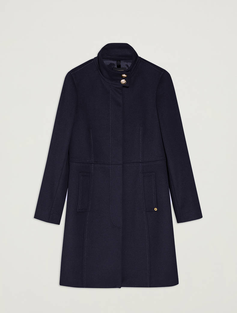 Pure wool slim-fit coat - midnight blue - pennyblack