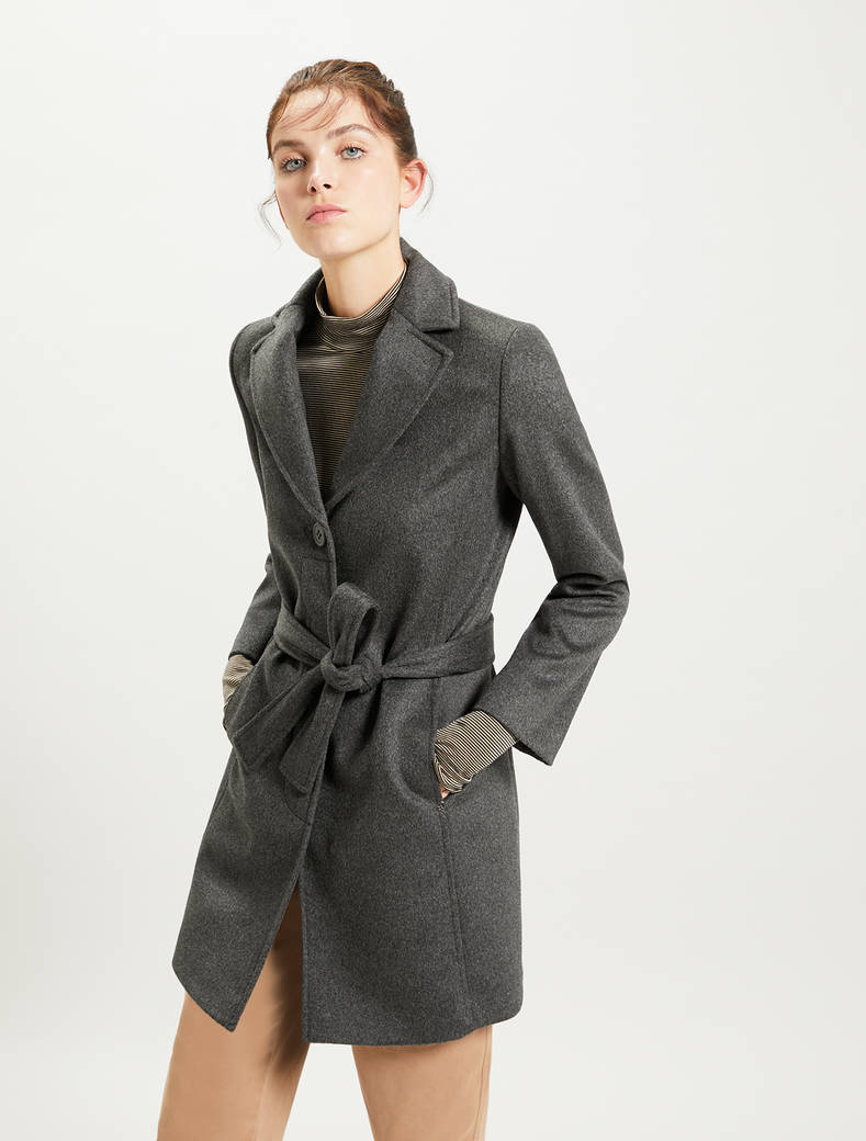 Pure wool coat - dark grey - pennyblack