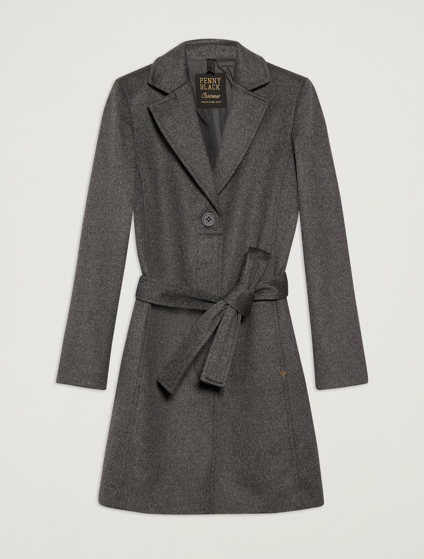 Pure wool coat - dark grey - pennyblack