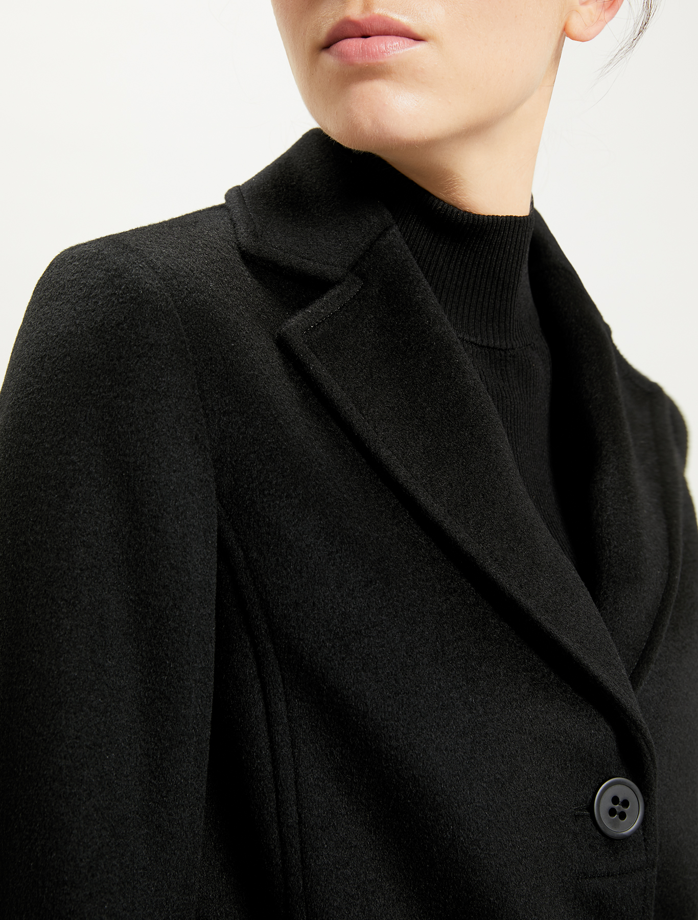 Pure wool coat - black - pennyblack