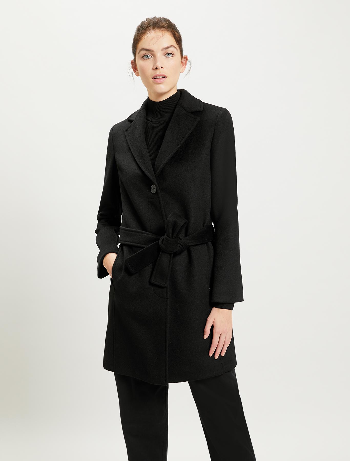 Pure wool coat - black - pennyblack