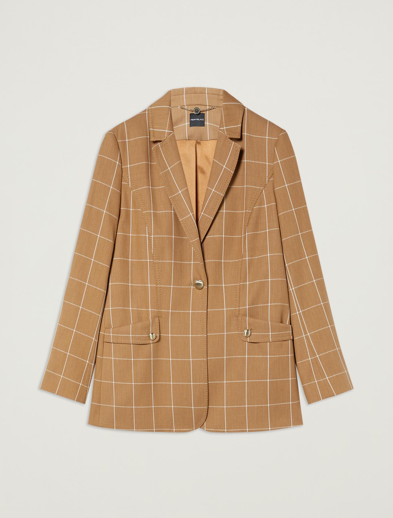 Blazer with graphic design - camel pattern - pennyblack