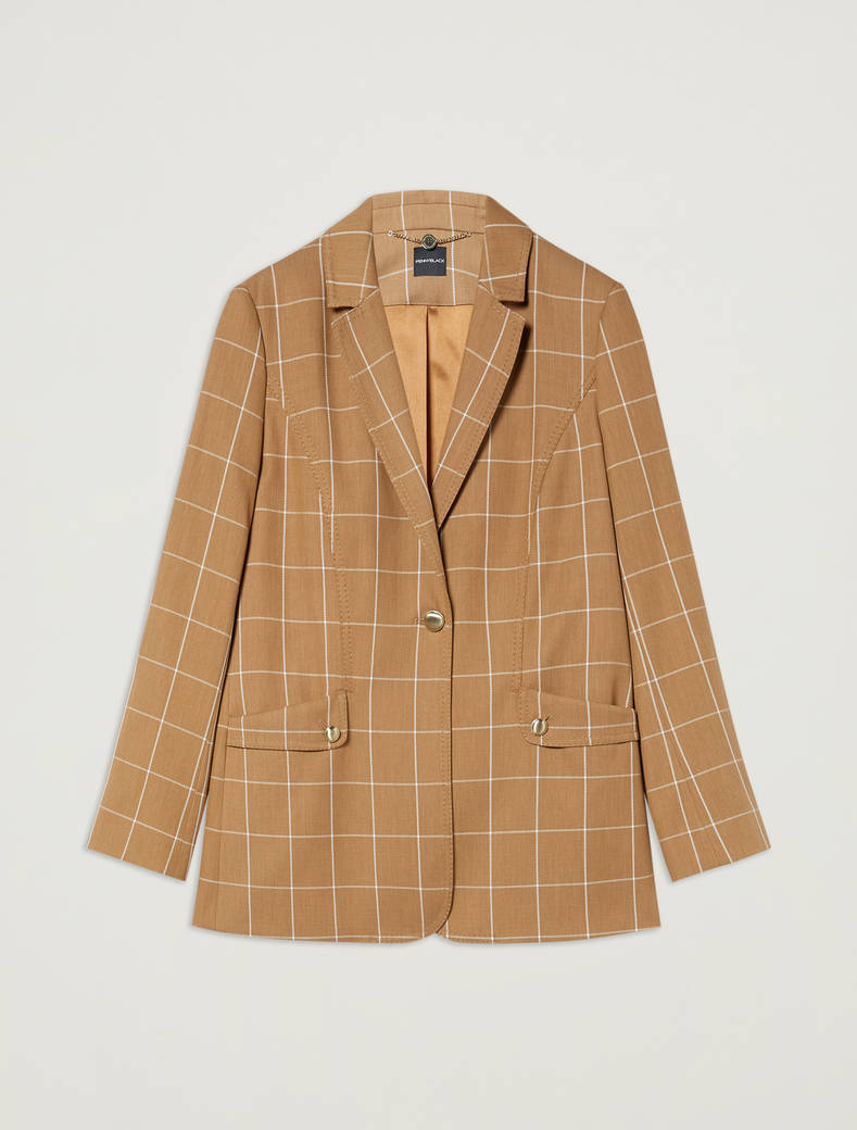 Blazer with graphic design - camel pattern - pennyblack