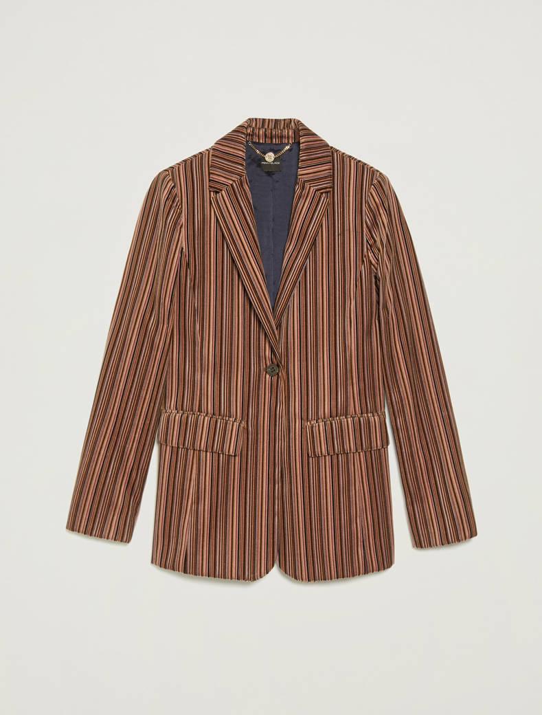 Blazer in velluto a righe - fantasia lilla - pennyblack