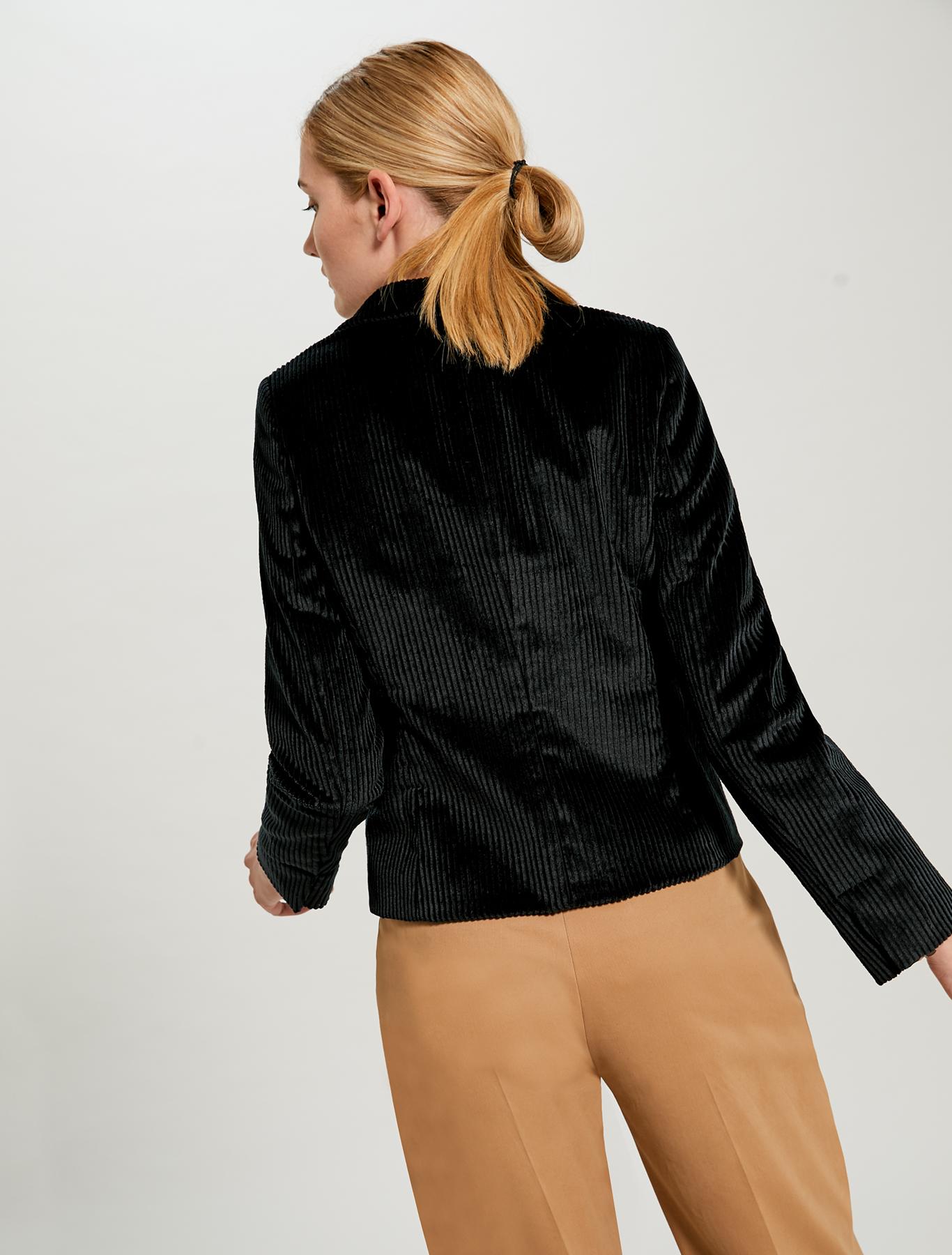 Slim fit corduroy blazer - black - pennyblack