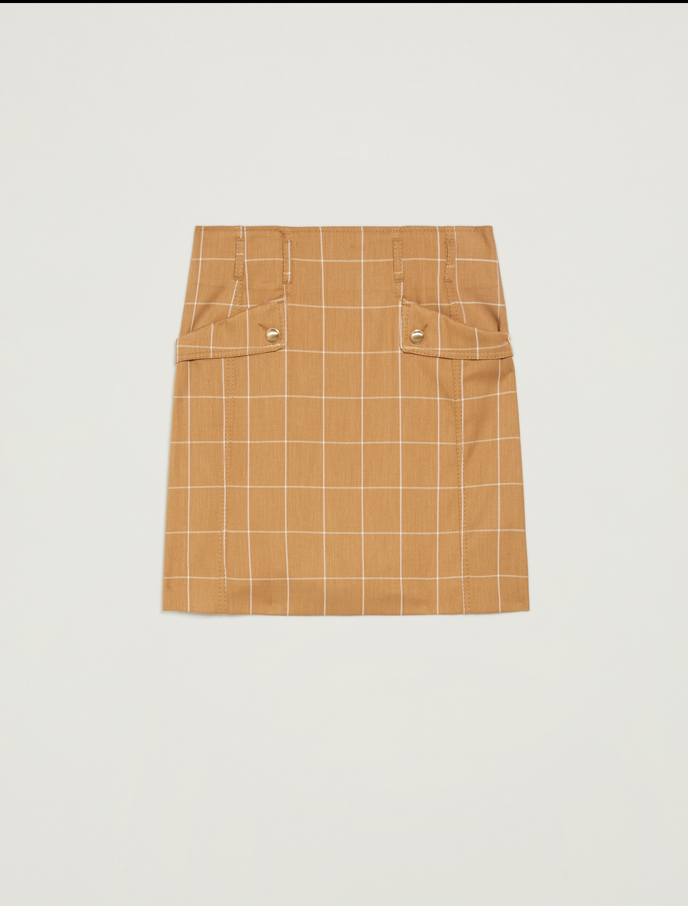 A-line skirt with graphic design - camel pattern - pennyblack