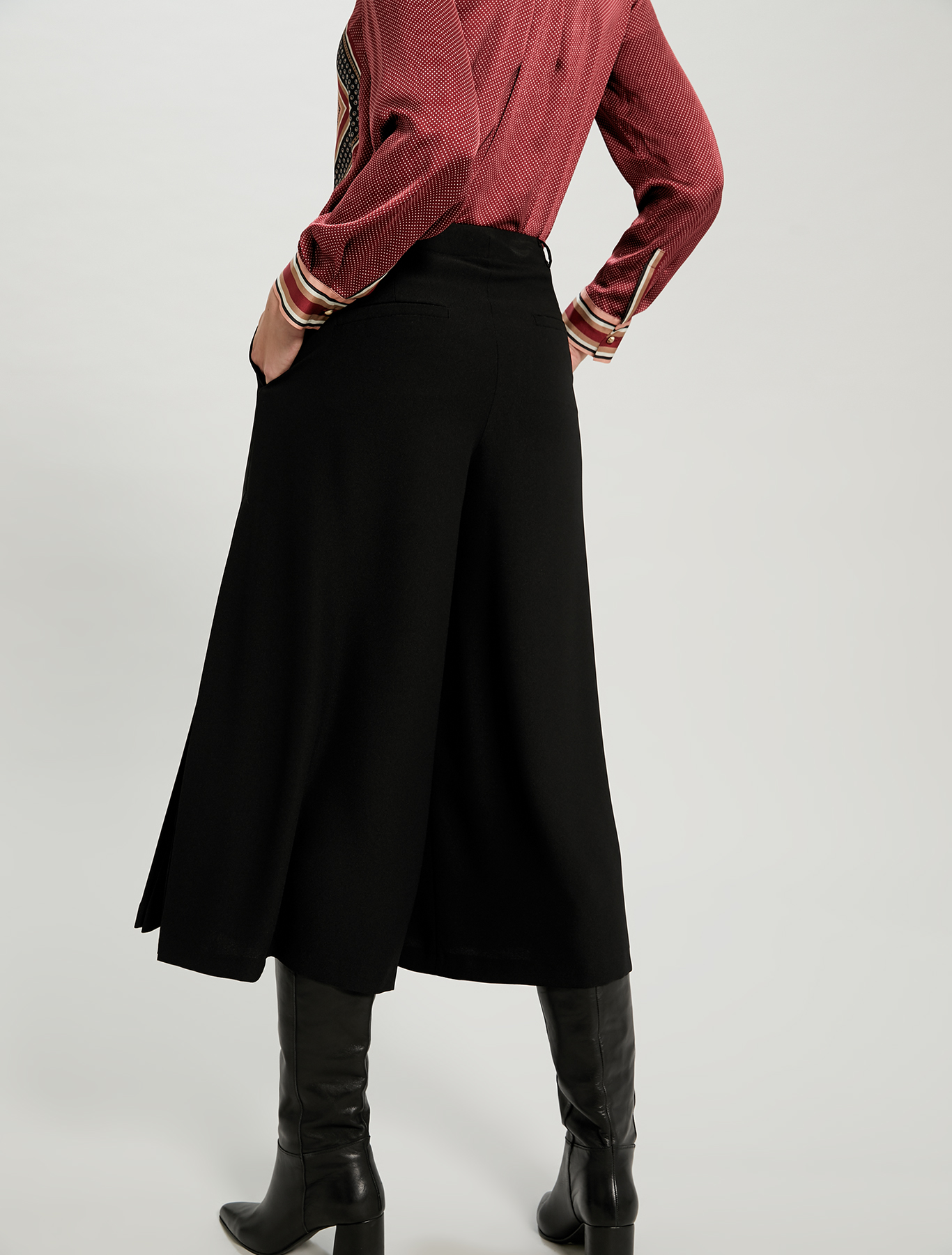 Pleated culottes - black - pennyblack