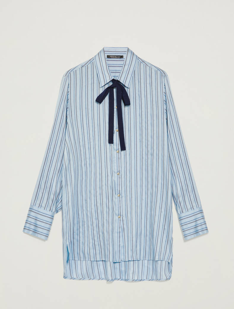 Shirt with regimental stripes - light blue pattern - pennyblack