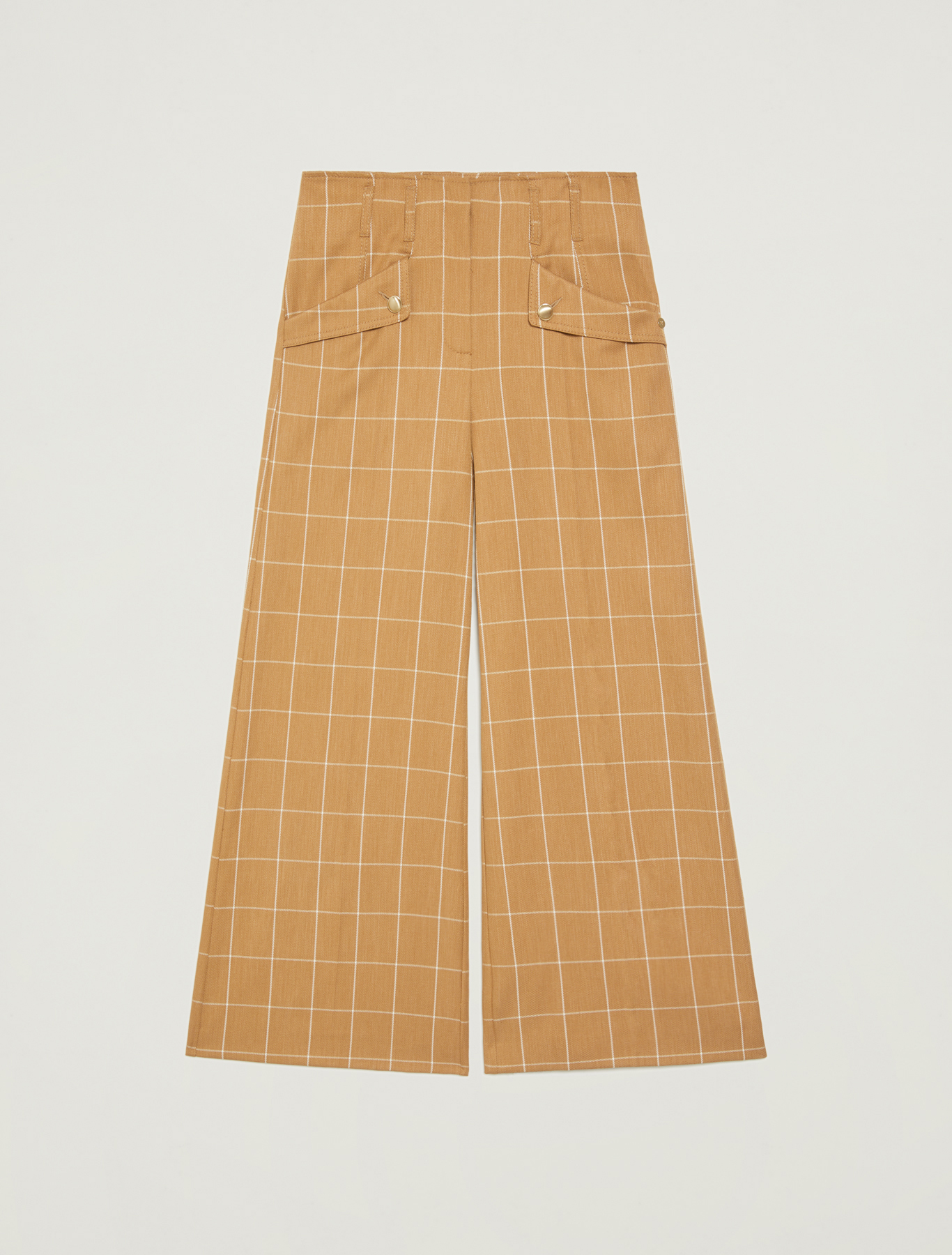 Wide trousers with graphic design - camel pattern - pennyblack